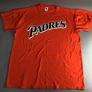 San Diego Padres T-shirt Shirt Men's Large Orange